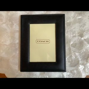 """Coach 4""""x6"""" Classic Leather Picture Frame"""